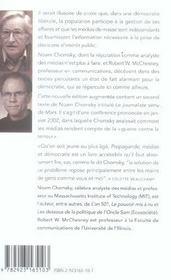 Propagande, médias et démocratie (édition 2005) - 4ème de couverture - Format classique