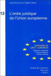 L'ordre juridique de l'union europeenne - Couverture - Format classique