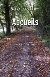 Journal t.4 ; accueils (1982-1988) - Couverture - Format classique