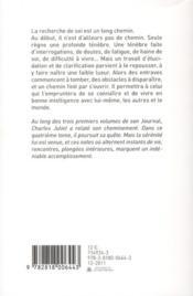 Journal t.4 ; accueils (1982-1988) - 4ème de couverture - Format classique