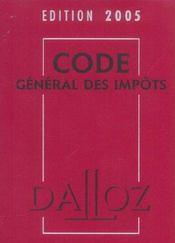 Code général des impôts - Intérieur - Format classique
