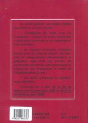 Code général des impôts - 4ème de couverture - Format classique