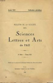 Bulletin De La Societe Des Sciences - Lettres Et Arts De Pau - 3° Serie - Tom Xx - Annee 1959 - Couverture - Format classique
