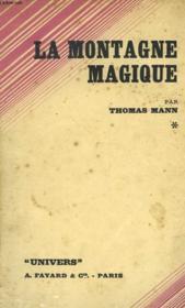 La Montagne Magique - Zauberberg - Tome Premier - Couverture - Format classique