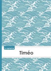 Carnet Timeo Lignes,96p,A5 Vaguejaponaise - Couverture - Format classique