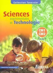 Sciences expérimentales et technologie ; CM1, CM2 ; manuel de l'élève (édition 2002) - Intérieur - Format classique