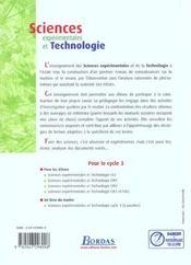 Sciences expérimentales et technologie ; CM1, CM2 ; manuel de l'élève (édition 2002) - 4ème de couverture - Format classique