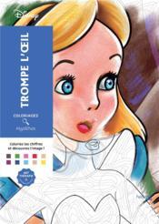 Coloriages mystères Disney trompe l'oeil - Couverture - Format classique