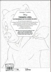 Coloriages mystères Disney trompe l'oeil - 4ème de couverture - Format classique