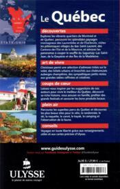 Le Québec (édition 2020) - 4ème de couverture - Format classique