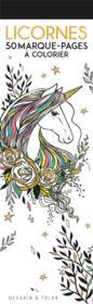 Licornes ; 50 marque-pages à colorier - Couverture - Format classique