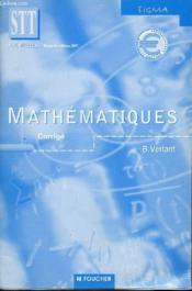 Mathematiques Terminale Stt ; Corriges - Couverture - Format classique