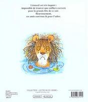 Pauvre leonard ! - 4ème de couverture - Format classique