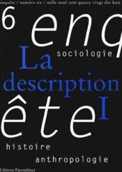 Revue Enquete 06 - La Description I - Couverture - Format classique