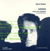 Hervé Guibert, 1955-1991 ; lecture et entretiens - Couverture - Format classique