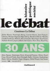 Revue Le Débat N.160 ; 30 ans - Couverture - Format classique