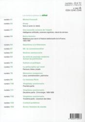 Revue Le Débat N.160 ; 30 ans - 4ème de couverture - Format classique