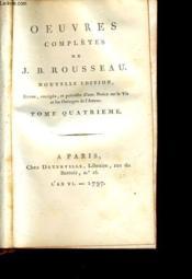 OEUVRES COMPLETES DE J. B. ROUSSEAU tome 4 - Couverture - Format classique