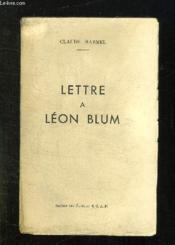 Lettre A Leon Blum. - Couverture - Format classique