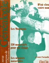 Le Revue Francaise De Genealogie N°82 - D'Ou Vient Votre Nom - Les Mormons... - Couverture - Format classique