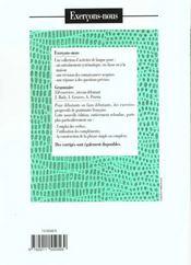 Les 350 exercices - grammaire - debutant - livre de l'eleve - 4ème de couverture - Format classique