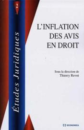 L'inflation des avis en droit - Couverture - Format classique