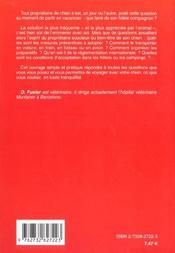Voyager Avec Son Chien - 4ème de couverture - Format classique