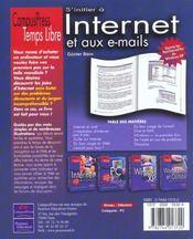 S'Initier A Internet Et Aux E-Mails - 4ème de couverture - Format classique