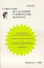 Installation du bureau pour l'annee 1999 les couts de production compares entre la france et ses pri - Couverture - Format classique