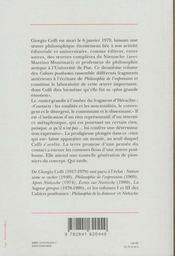 Philosophie Du Contact ; Cahiers Posthumes T.2 - 4ème de couverture - Format classique
