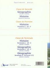 La France en Europe et dans le monde ; géographie ; classes de premières L - ES - S - 4ème de couverture - Format classique