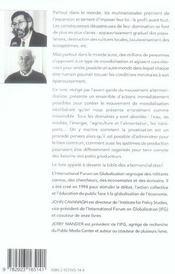 Alternatives A La Globalisation Economique - 4ème de couverture - Format classique
