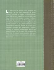 Le beau livre du français - 4ème de couverture - Format classique