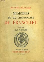 Memoires D Ela Chanoinesse De Franclieu - Couverture - Format classique