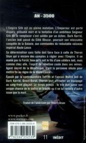 Star Wars - the old republic T.4 ; annihilation - 4ème de couverture - Format classique