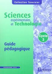 Sciences expérimentales et technologie ; cycle 3 ; livre du maître (édition 2002) - Intérieur - Format classique