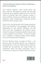 Paris-Buenos Aires ; un siècle de tango - 4ème de couverture - Format classique