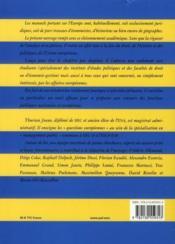 Questions européennes ; le droit et les politiques de l'Union - 4ème de couverture - Format classique