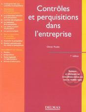 Contrôles et perquisitions dans l'entreprise (1re édition) - Intérieur - Format classique