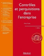 Contrôles et perquisitions dans l'entreprise (1re édition) - Couverture - Format classique