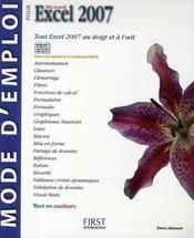 Mode d'emploi Excel 2007 - Intérieur - Format classique