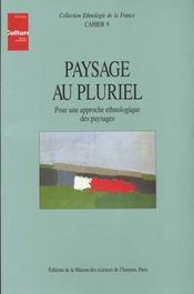 Paysage au pluriel - Intérieur - Format classique