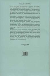 Paysage au pluriel - 4ème de couverture - Format classique