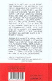 Gumshoe - 4ème de couverture - Format classique