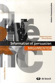 Information et persuasion : argumenter - Intérieur - Format classique