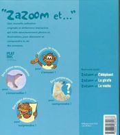 Zazoom Et L'Ours Blanc - 4ème de couverture - Format classique