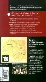 Que Faire En Perigord-Quercy ? - 4ème de couverture - Format classique