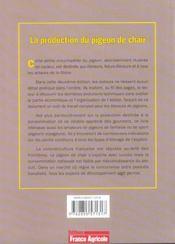 La production du pigeon de chair - 2eme edition - 4ème de couverture - Format classique