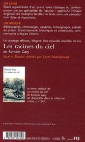 Les racines du ciel, de Romain Gary - 4ème de couverture - Format classique
