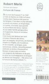 Fortune de France t.1 ; Fortune de France - 4ème de couverture - Format classique